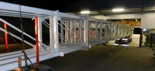 Transport Gitterbinder Stahlbau Vorndran Metallbau