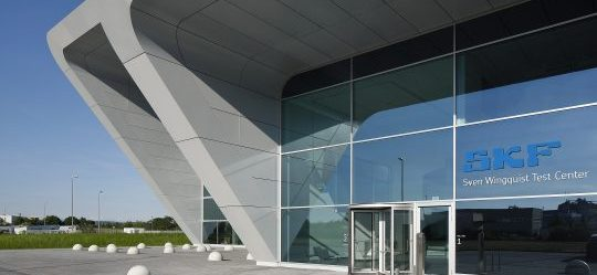 Haupteingang Test Center SKF - Fassade -DEU, Bayern, Schweinfurt, 14.6.2017, SKF Großlager-Prüfzentrum, Architekt: Tchoban Voss Architekten, Fertigstellung: 2017 [©(c) Hans Juergen Landes Fotografie