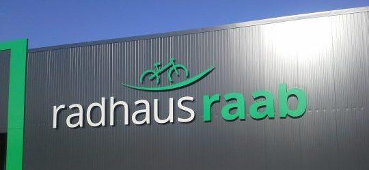 Sandwichelement- Fassade - Firmenlogo Radhaus Raab Bad Neustadt