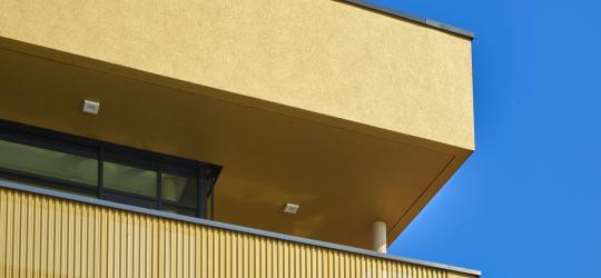Terrasse mit gelochtem Trapezblech -Bild mit freundlicher Genehmigung der Hund Möbelwerke