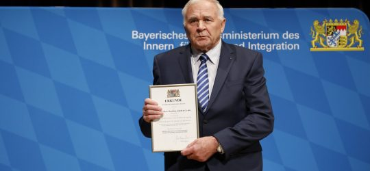 """Blaulichtempfang """"Sicheres Bayern"""" am 23. Oktober 2020 in Erlangen. Im Bild: Dipl.- Ing. (FH) Theo Vorndran. Foto: Giulia Iannicelli/StMI"""